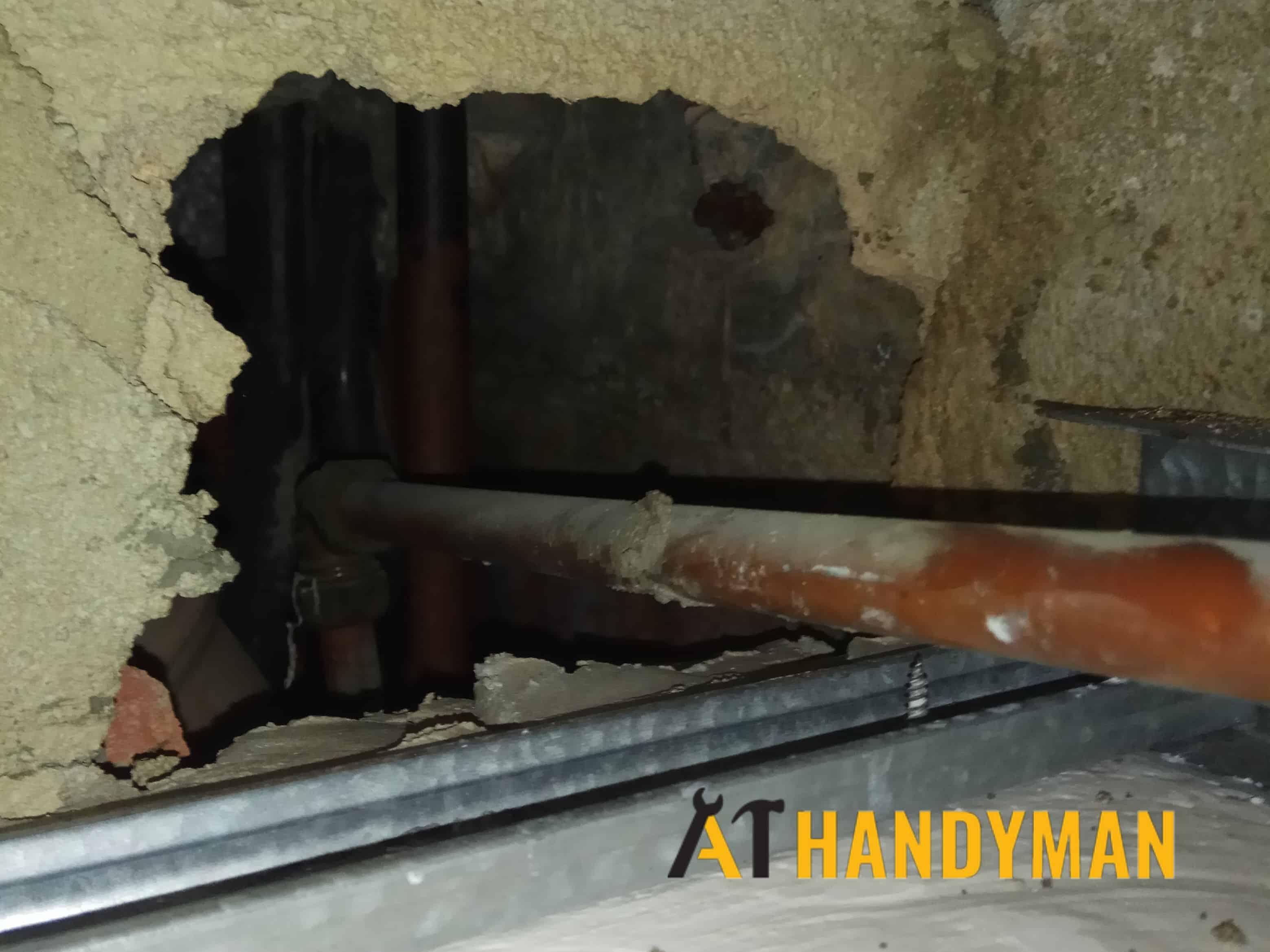 concealed pipe leak repair plumber singapore a1 handyman singapore condo clementi