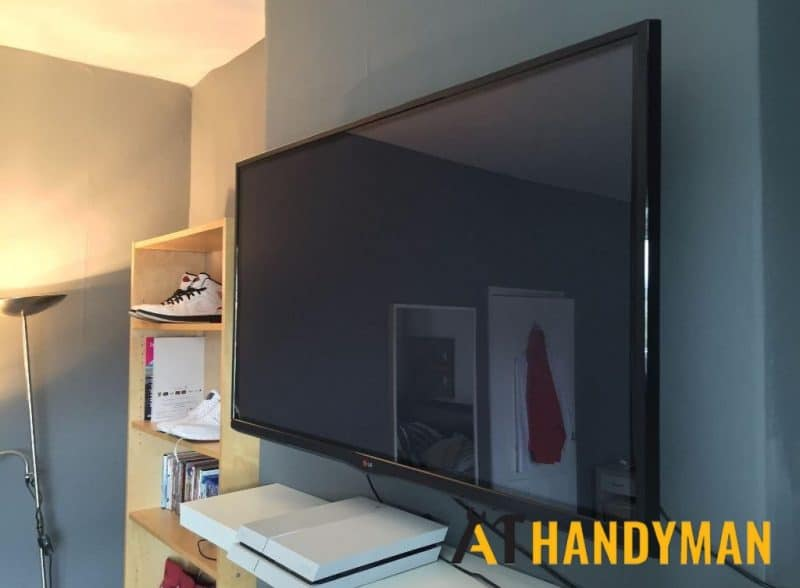 tv bracket installation services a1 handyman singapore landed ubi