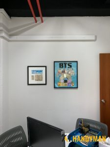 wall-mounting-installation-services-picture-frame-commercial-office-lower-delta-road